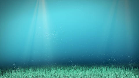 Underwater background animation with blue clean sea water 動畫
