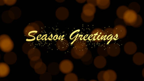 Season Greetings Holiday Bokeh Background 動畫