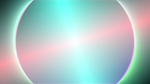 Green Colored Gradient Light Circle Rotation Surface Loop Neon Abstract Background Animation