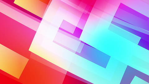 Slow motion of colourful shapes video background glassy and transparent circular shapes 3 Live Action