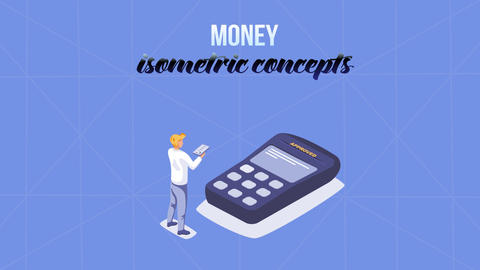 Money - Isometric Concept After Effects Template