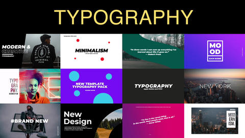 Modern Typography Apple Motion Template