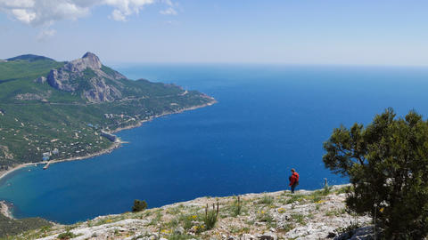 The southern coast of Crimea. View from Mount Kush-Kaya Footage
