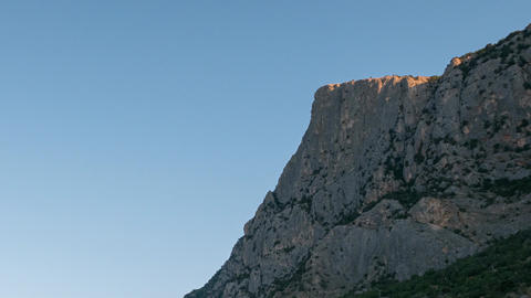 Mount Kush-Kaya, Crimea. Time Lapse Footage