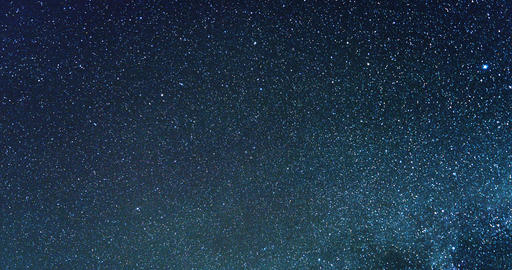 Black Starry sky with the Milky Way. TimeLapse Footage