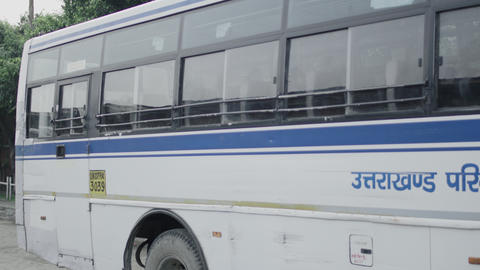 Uttarakhand Transport Corporation bus is at passengers service in Corona Live Action