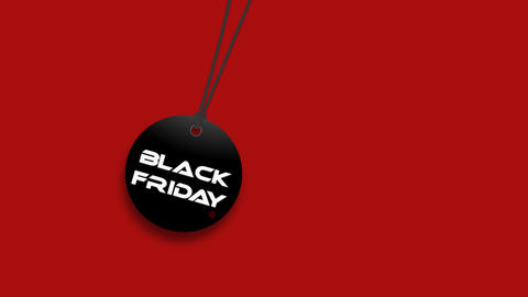 Pendulum with text Black Friday on red background 動畫