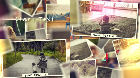Dynamic Rotation Slideshow After Effects Template