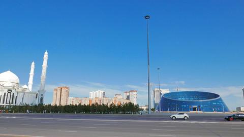 Astana, Kazakhstan - August 12, 2016: Sights of Astana - Hazrat Sultan Mosque, U Footage