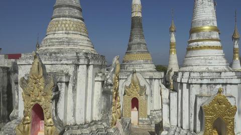 Shwe Inn Thein Paya temple, Myanmar (Burma) Footage