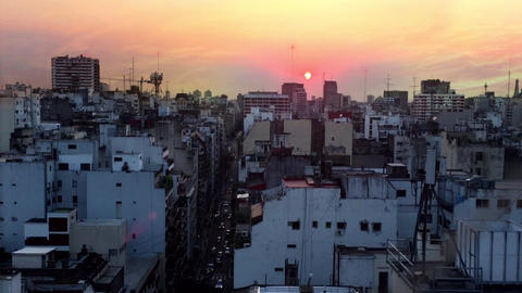 Sunset In Buenos Aires City Footage