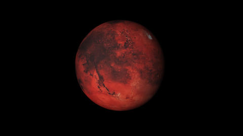 Concept-UR1 View of the Realistic Planet Mars Animation