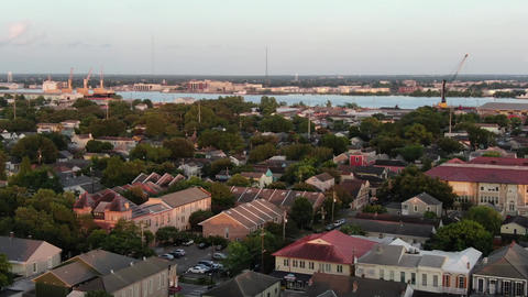 Aerial of magazine street new orleans louisiana 5 Live Action