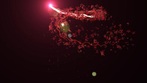 momiji Glow particle stroke trail line fire ember animation Animation
