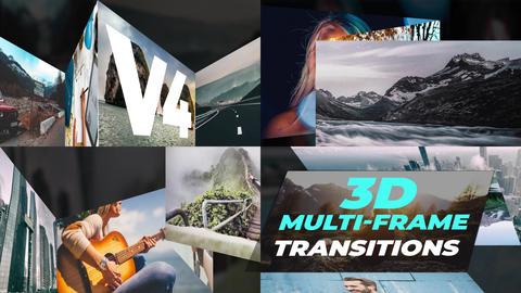 3D Multiframe Transitions V4 Plantillas de Premiere Pro