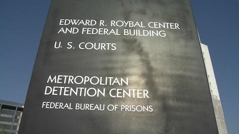 The Federal Detention Center in Los Angeles Stock Video Footage