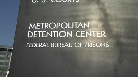 The Federal Detention Center in Los Angeles Footage