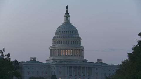 The Capitol Building in Washington DC at dusk Footage