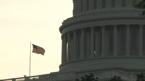 Pull back from the Capitol Building in Washington DC with... Stock Video Footage