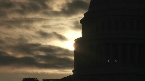 A zoom out from the Capitol Building in Washington DC in... Stock Video Footage