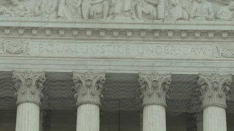 The Equal Justice Under Law sign at the Supreme Court... Stock Video Footage