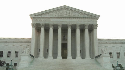 A zoom into the Supreme Court Building at Washington DC> Live Action