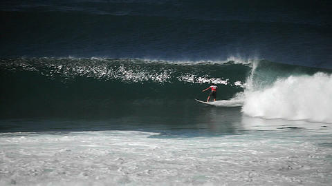 Surfer riding waves Stock Video Footage