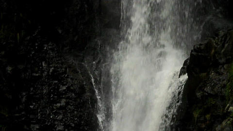 A close up of a waterfall flowing into a pool foll Stock Video Footage