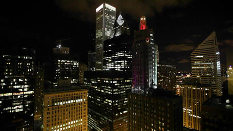 Night in Chicago Stock Video Footage