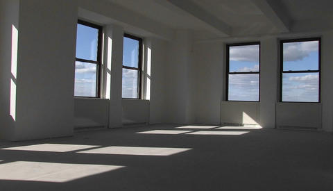 A room located on the top floor of a skyscrapper Stock Video Footage