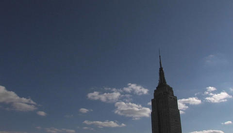 High clouds pass the Empire State building Footage