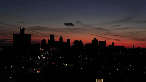 Lights of traffic at dusk in a city Stock Video Footage