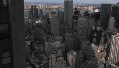 Time lapse of New York City from above Stock Video Footage
