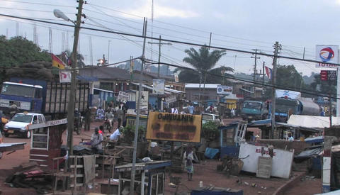 Daily life in a town in Africa Stock Video Footage