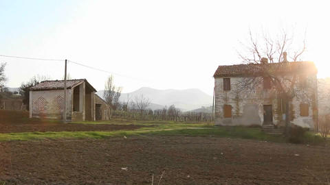 Rural homes on a sunny day Stock Video Footage