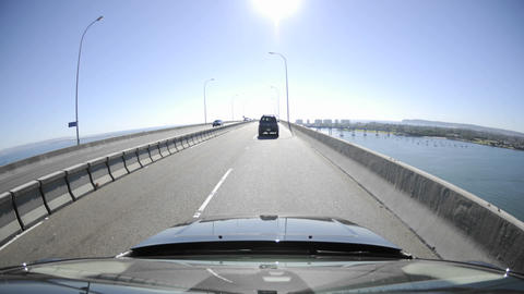Point of view time-lapse driving over the Coronado Stock Video Footage