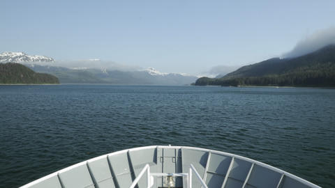 Point of view time-lapse from the bow of an anchor Stock Video Footage