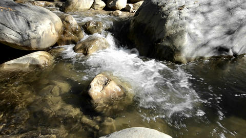 Panning right shot of clear and clean waterfall in Stock Video Footage