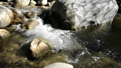 Panning right shot of clear and clean waterfall in Footage
