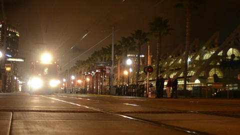 San Diego's Orange Line Trolley leaving the Nation Footage