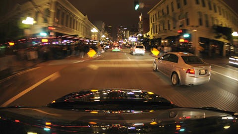 Point of view time lapse driving through the Natio Stock Video Footage