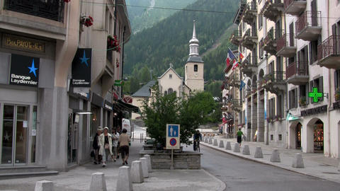 A town in the Alps Stock Video Footage