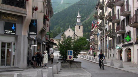 A town in the Alps Footage