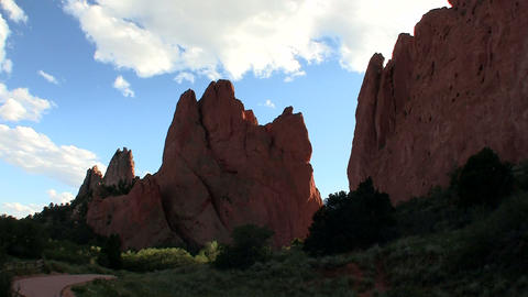Sandstone peaks in Canyonlands National Park Footage