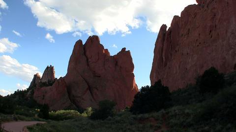 Sandstone peaks in Canyonlands National Park Stock Video Footage