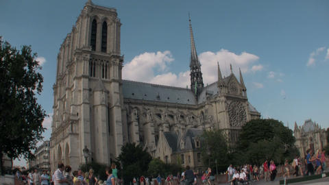 Notre Dame Cathedral, Paris, France Stock Video Footage