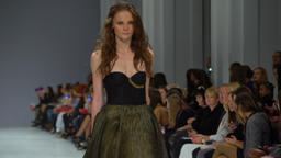 Fashion show. Model on the show Footage