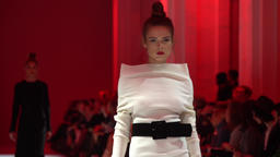 Model showing clothes on the catwalk Footage