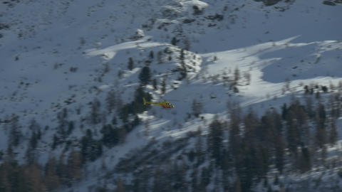 Helicopter Yellow Mountain Footage