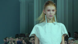 Fashion show. Model on the catwalk Footage